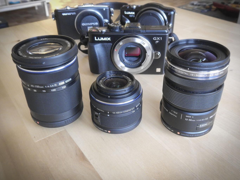 Panasonic GF3, GX1 & Olympus E-PM1