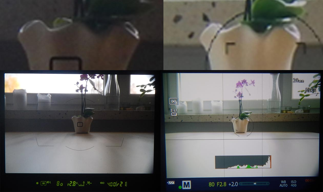 D700 E-M1 Sucher Vergleich